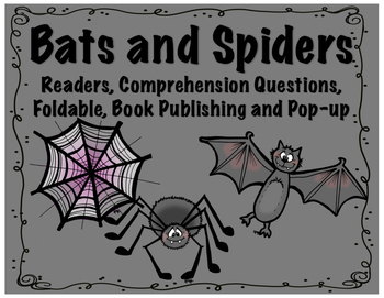 Spiders and Bats Reader, Comprehension, Foldable, STEM Pop