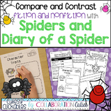 Spiders and Diary of a Spider Fiction & Nonfiction Comparison {Common Core}