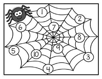 Spiders and Flies Numbers Counting Quick and Easy Set-Up Center
