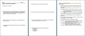 Spiders and Other Arachnids Homework Assignment
