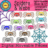 Spiders and Webs Digital Moveable Clip Art