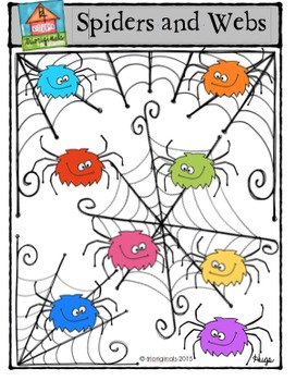 Spiders and Webs {P4 Clips Trioriginals Digital Clip Art}