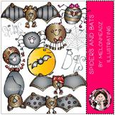 Spiders and bats clip art - Melonheadz clipart
