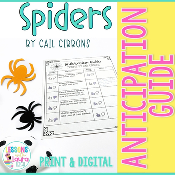 Spiders by Gail Gibbons Anticipation Guide