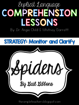 Spiders by Gail Gibbons - Monitor and Clarify Comprehensio