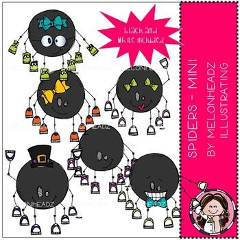 Spiders clip art - Mini - Melonheadz Clipart