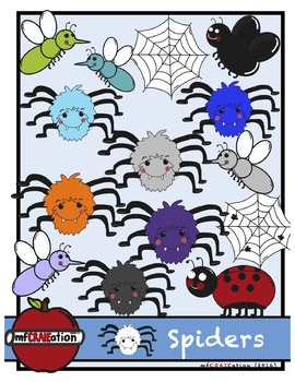 Spiders cliparts
