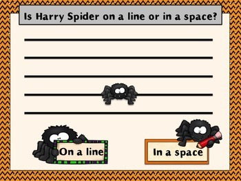 Spiders on the Staff: An Interactive Line and Space Identification Game