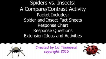 Spiders vs. Insects Compare and Contrast Activity
