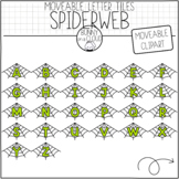 Spiderweb Letter Tiles (Moveable Clipart) by Bunny On A Cloud