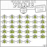 Spiderweb Number Tiles (Moveable Clipart) by Bunny On A Cloud