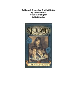 Spiderwick: The Field Guide Chapter by Chapter Questions