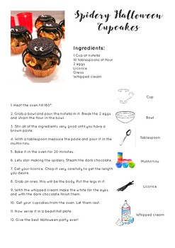 Spidery Halloween Recipe
