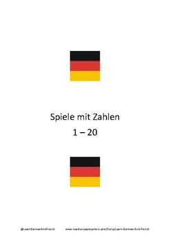 Spiele mit Zahlen 1 - 20