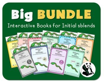 Spike the Snake Big Bundle: Interactive Books sblends 10 Books! Big Savings!