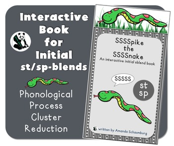 Spike the Snake: Interactive Book for Phonological Processing Initial SP/ST