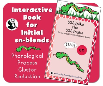 Spike the Snake: Interactive Book for Phonological Processing Initial sblend: sn