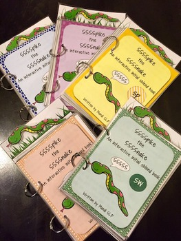 Spike the Snake: Interactive Book for Phonological Processing Initial sblend: sp
