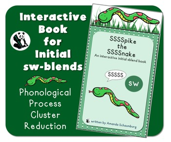 Spike the Snake: Interactive Book for Phonological Processing Initial sblend: sw