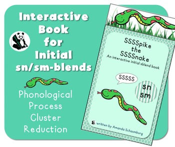 Spike the Snake: Interactive Book for Phonological Processing Initial sm/sn