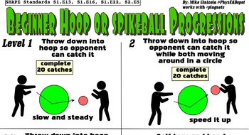 Spikeball - Hoopball - Roundball Lead-Up Quest Skill PE Progression - 6 Levels!
