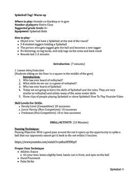 Spikeball Lesson Plan