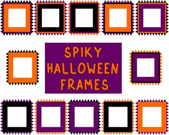 Spiky Edge Halloween Frames