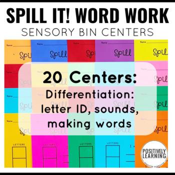 Spill It! Literacy Sensory Bin Bundle