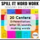 Sensory Bin Literacy Center