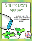Addition Fact Game Numbers 10-20 Spill The Beans {K/1}