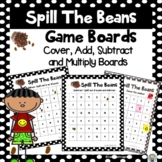 Addition-Subtraction-Multiplication Game Boards-Spill The Beans