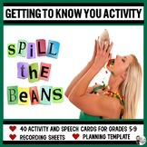 Spill the Beans! A Getting-to-Know-You Mini-Unit for Grades 5-9