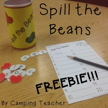 Spill the Beans FREEBIE! Adjustable for Language Arts or Math