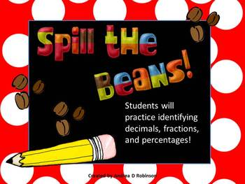 Spill the Beans with Fractions, Decimals and Percentages!