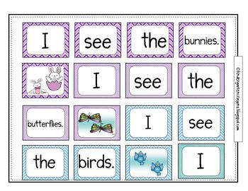 Spilled Words: A Literacy Station for Sentence Building Fun