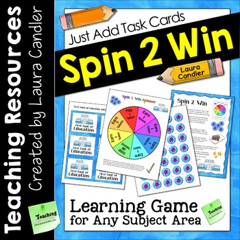Spin 2 Win Game | Just Add Task Cards to Customize