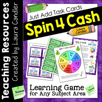 Spin 4 Cash Game | Just Add Task Cards to Customize