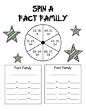 Spin A Fact Family - Double Digit Numbers