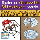Spin A Growth Mindset Web: CBT Spinner Craft and Worksheets
