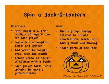 Spin A Jack-O-Lantern