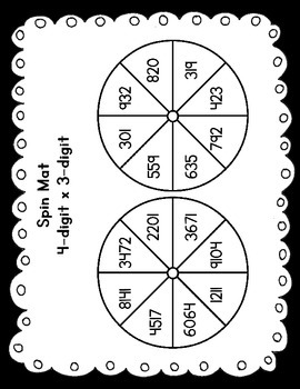 Spin - A Multi-Digit Multiplication Game