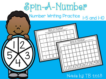 Spin-A-Number Writing Practice