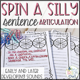 Spin A Silly Sentence: Early and Later Sounds Articulation Activities & Homework