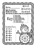 Spin A Snowman: Doubles Addition