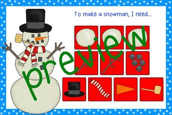 Spin A Snowman Reinforcement Game for Articulation, Language, or Math Activities