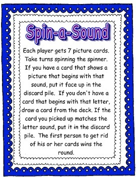 Spin-A-Sound (Initial consonant sounds game)