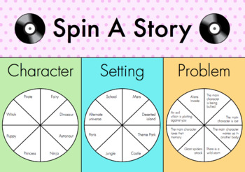 Spin-A-Story - Narrative Writing Prompts and Writing Plan Template