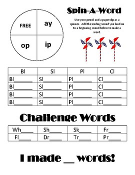Spin-A-Word - L Blends