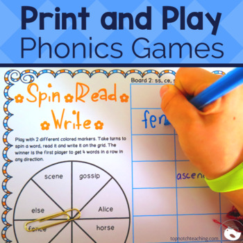 Spin a Word Phonics Games Bundle