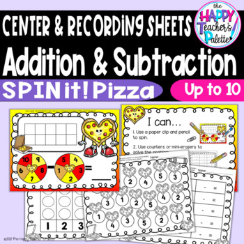 Spin Add Subtract Pizza Hearts *Perfect for Target Mini-Erasers